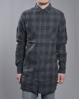 Urban Classic Long Checked Flanel shirt - Kauluspaidat - TB1000 - 1