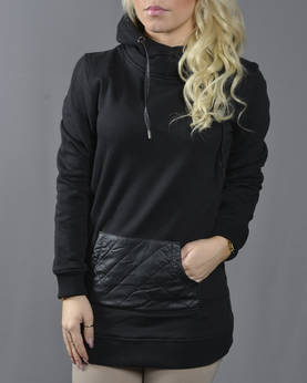 Urban Classics Ladies Leath.imit PctHood - Hupparit ja Colleget - TB792 - 1