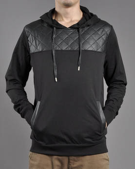 Urban Classics Leath.imit Shoulder Hoody - Hupparit - TB822 - 1