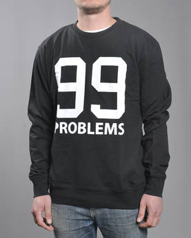 Mr Tee 99 Problems Crewneck - Colleget - MT093 - 1