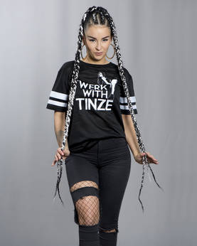 Twerk With Tinze Stripe Girl Power Tee - TWERK WITH TINZE -Yläosat - TWT033 - 1
