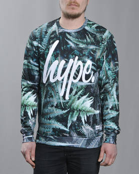 HYPE Muted Fern Aop collegepaita - Colleget - HYSS175015 - 1