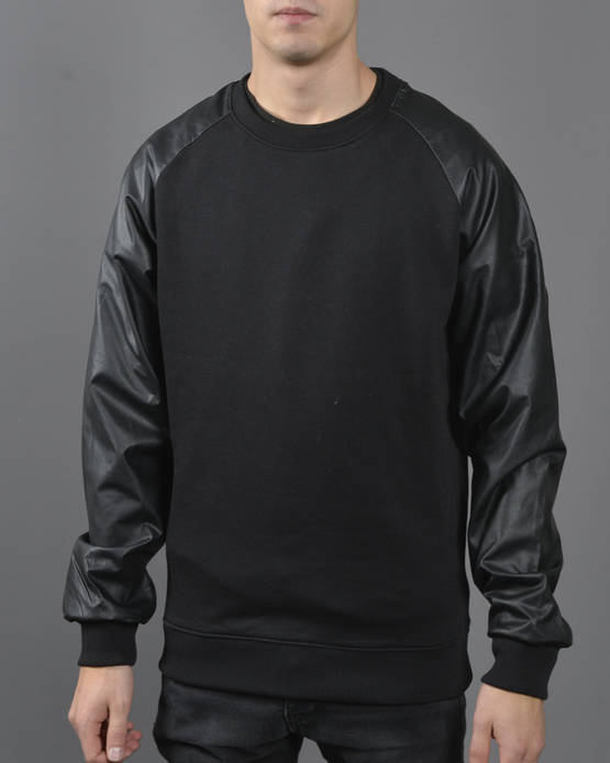 Urban Classics Leather Imitation Crew - Colleget - TB845 - 1