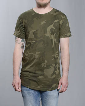 Urban Classics Shaped Long Camo t-paita - T-Paidat - TB1646 - 1
