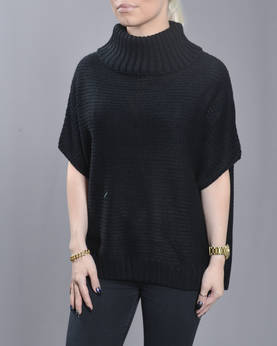 Urban Classic Ladies Knitted Poncho - Neuleet - TB1078 - 1