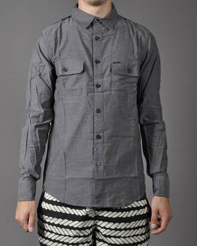 IRON FIST Brawl L/S Chambray Shirt - Kauluspaidat - 8IFM0529 - 1