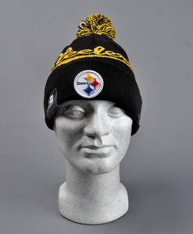 New Era Bobble Script Steelers Beanie - Pipot - NE2022PS - 1